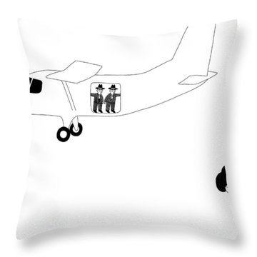 Cement Shoes Throw Pillow