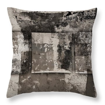 Cement Squares Number Four Throw Pillow