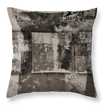 Cement Squares Number Three Throw Pillow