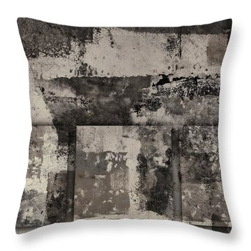 Cement Squares Number Two Throw Pillow