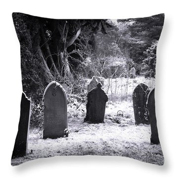 Cemetery And Snow Throw Pillow by Jane Rix
