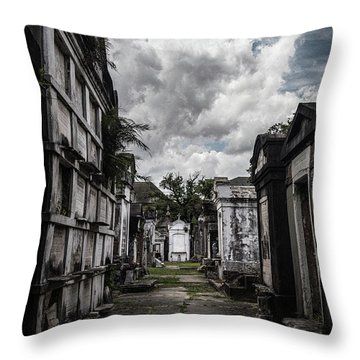 Cemetery Row Throw Pillow