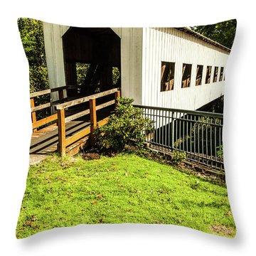 Centennial Bridge Throw Pillow