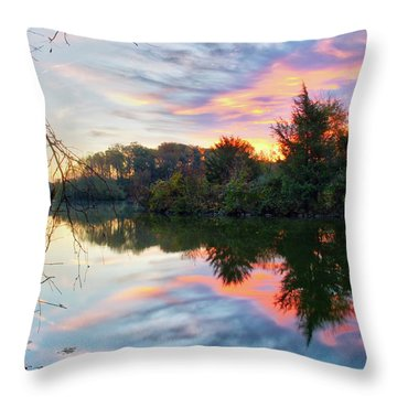 Throw Pillow featuring the photograph Centennial Lake At Sunrise by Mark Dodd