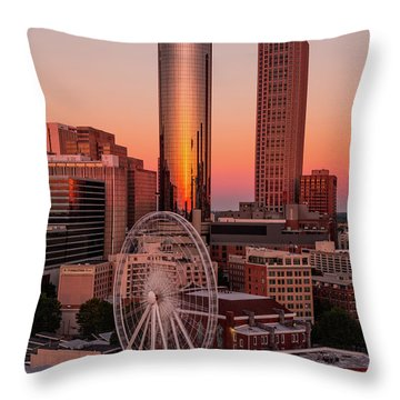 Centennial Olympic Park Throw Pillow