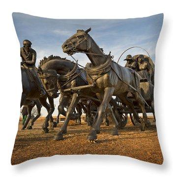 Centennial Statues Throw Pillow