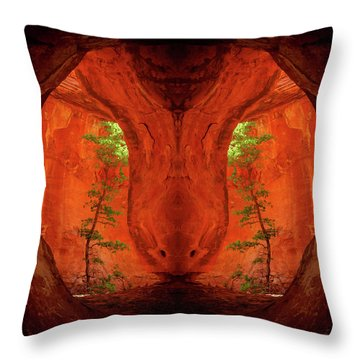 Center Column Throw Pillow by Scott McAllister