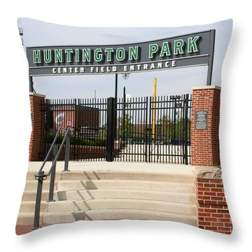 Center Field Entrance At Huntington Park  Throw Pillow by Laurel Talabere