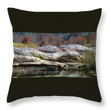 Centered In Humility Throw Pillow by David Norman