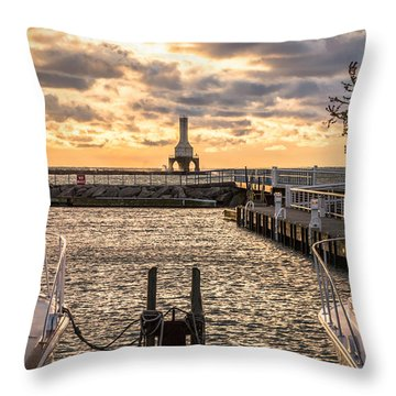 Centered In The Marina Throw Pillow