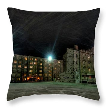 Central Area At Night Throw Pillow