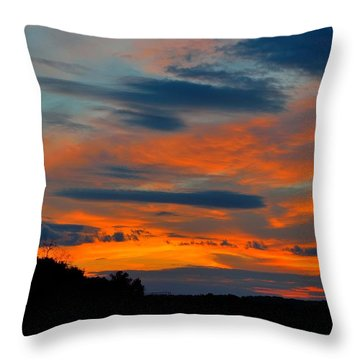 Central Jersey Sunset Throw Pillow by Steven Richman
