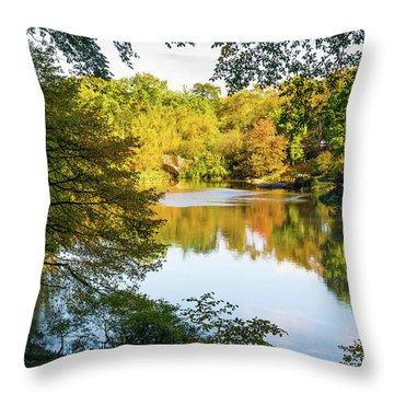 Central Park - City Nature Park Throw Pillow