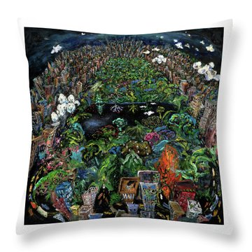 Central Park Throw Pillow by Antonio Ortiz