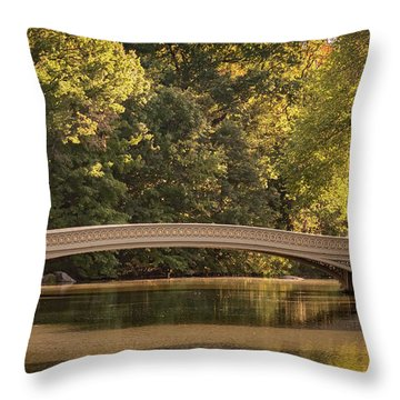Central Park Bridge Throw Pillow