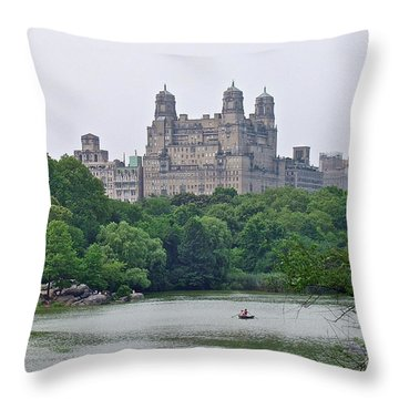 Throw Pillow featuring the photograph Central Park by Carol  Bradley