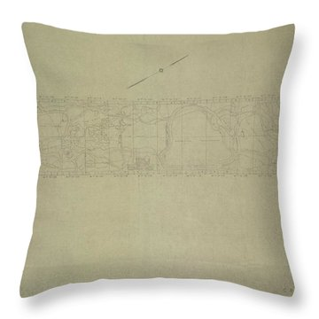 Central Park City Of New York Department Of Parks Map 1934 Throw Pillow