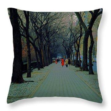 Central Park East Throw Pillow
