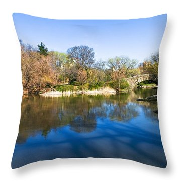 Central Park In New York City Throw Pillow by Svetlana Sewell