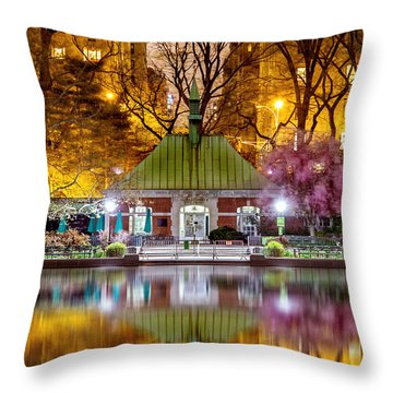 Central Park Memorial Throw Pillow