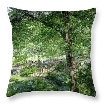 Central Park Montage Throw Pillow by Dave Beckerman