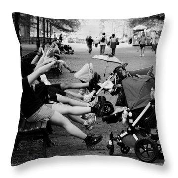 Central Park New York City Throw Pillow by Mark Ashkenazi