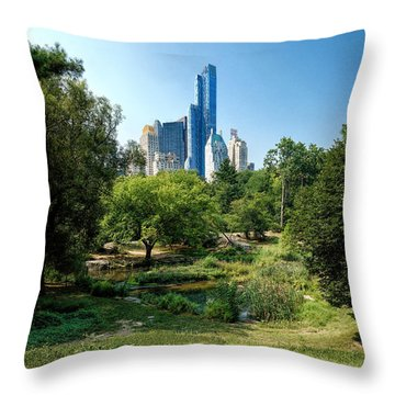 Central Park Ny Throw Pillow by Daniel Heine