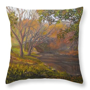 Central Park On A Fall Day Throw Pillow