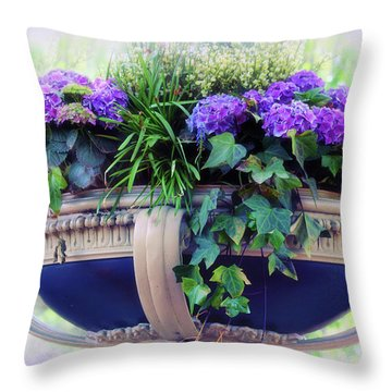 Throw Pillow featuring the photograph Central Park Planter by Jessica Jenney