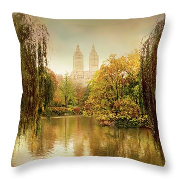 Throw Pillow featuring the photograph Central Park Splendor by Jessica Jenney