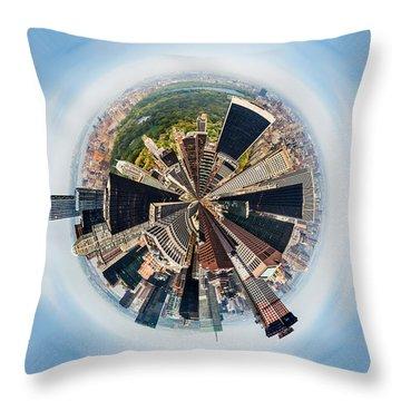 Eye Of New York Throw Pillow