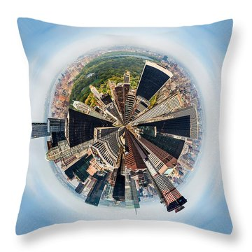 Eye Of New York Throw Pillow