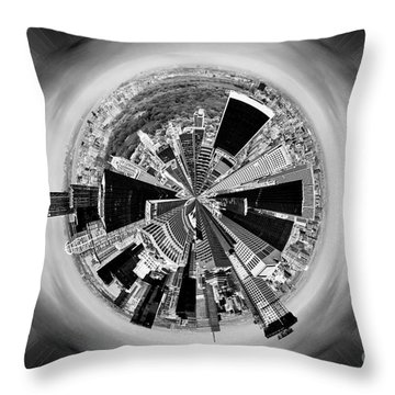 Central Park View Bw Throw Pillow