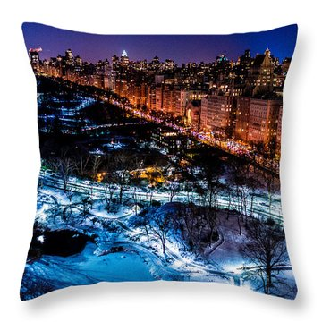 Throw Pillow featuring the photograph Central Park by M G Whittingham