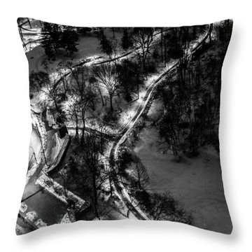 Throw Pillow featuring the photograph Central Park Trails by M G Whittingham