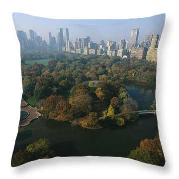 Central Parks Bethesda Fountain Throw Pillow