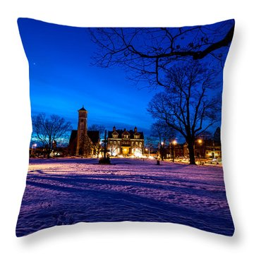 Central Parl Throw Pillow