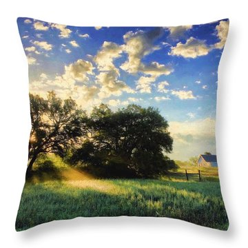 Central Texas Sunrise Throw Pillow