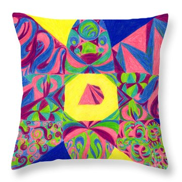 Throw Pillow featuring the drawing Centrifugal by Kim Sy Ok