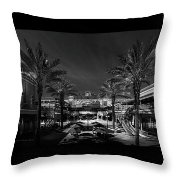 Throw Pillow featuring the photograph Centro Ybor Bw by Marvin Spates