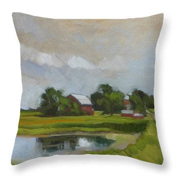 Century Farm Throw Pillow