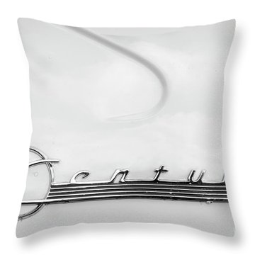 Throw Pillow featuring the photograph Century Monotone by Dennis Hedberg