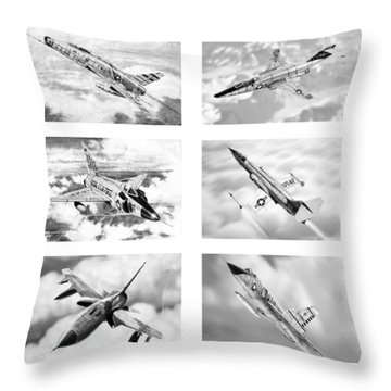 Century Series Drawings Throw Pillow