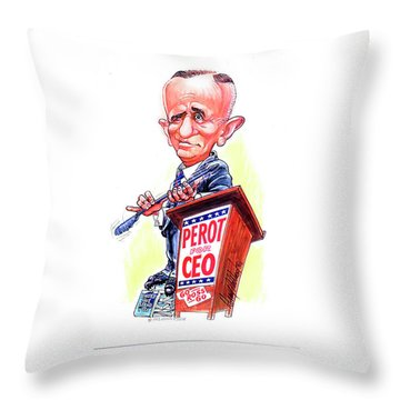 Ceo Ross Perot Throw Pillow