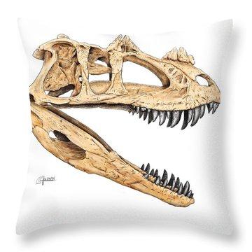 Ceratosaur Skull Throw Pillow