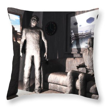 Cerebral Incinerator Throw Pillow