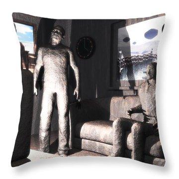 Cerebral Incinerator Throw Pillow