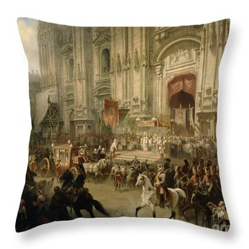 Ceremonial Reception Throw Pillow by Adolf Jossifowitsch Charlemagne