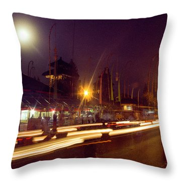 Throw Pillow featuring the photograph Ceremonious Crossings by T Brian Jones