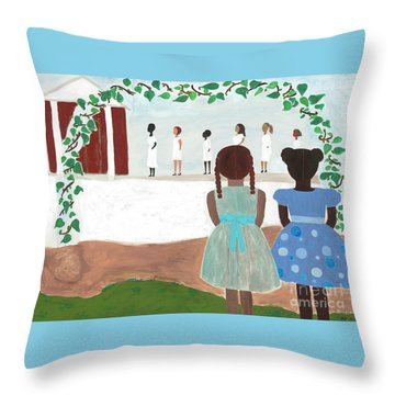 Ceremony In Sisterhood Throw Pillow